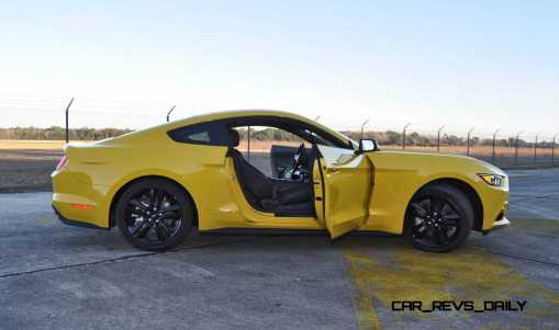 HD Road Test Review - 2015 Ford Mustang EcoBoost in Triple Yellow with Performance Pack 199
