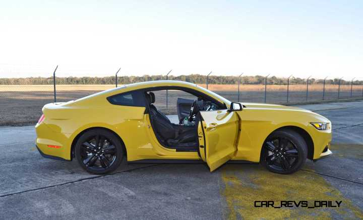 HD Road Test Review - 2015 Ford Mustang EcoBoost in Triple Yellow with Performance Pack 200