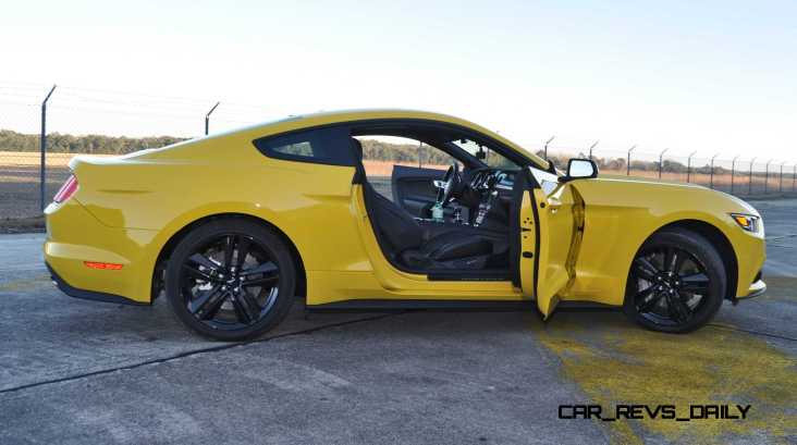 HD Road Test Review - 2015 Ford Mustang EcoBoost in Triple Yellow with Performance Pack 202