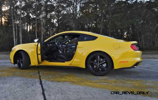 HD Road Test Review - 2015 Ford Mustang EcoBoost in Triple Yellow with Performance Pack 214