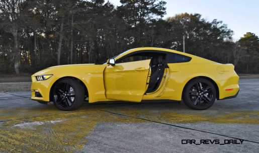 HD Road Test Review - 2015 Ford Mustang EcoBoost in Triple Yellow with Performance Pack 216