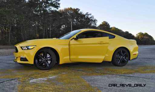 HD Road Test Review - 2015 Ford Mustang EcoBoost in Triple Yellow with Performance Pack 218