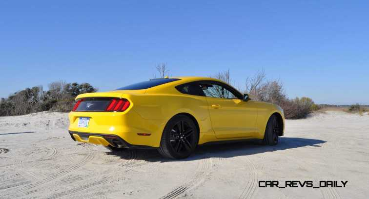 HD Road Test Review - 2015 Ford Mustang EcoBoost in Triple Yellow with Performance Pack 24
