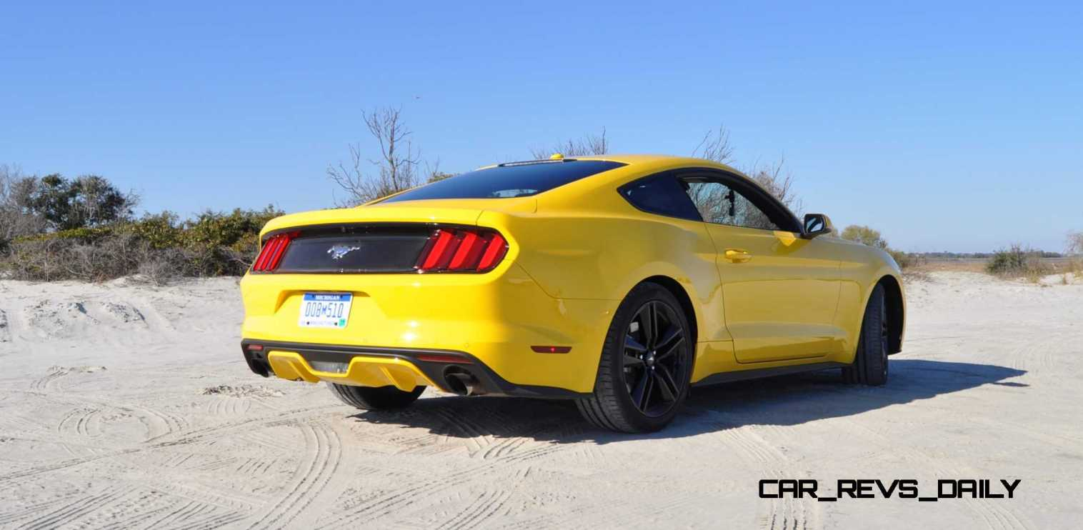 HD Road Test Review - 2015 Ford Mustang EcoBoost in Triple Yellow with Performance Pack 26
