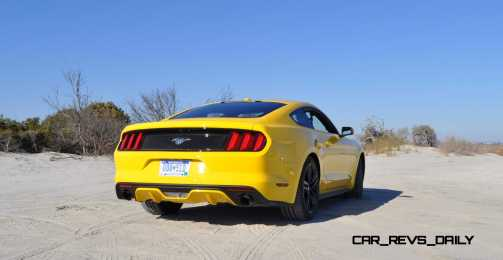 HD Road Test Review - 2015 Ford Mustang EcoBoost in Triple Yellow with Performance Pack 29