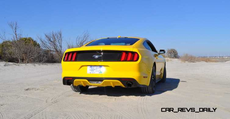 HD Road Test Review - 2015 Ford Mustang EcoBoost in Triple Yellow with Performance Pack 30