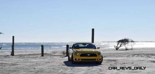HD Road Test Review - 2015 Ford Mustang EcoBoost in Triple Yellow with Performance Pack 42