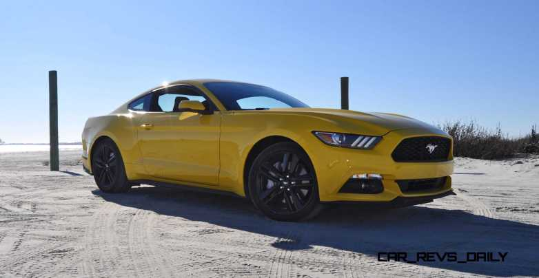 HD Road Test Review - 2015 Ford Mustang EcoBoost in Triple Yellow with Performance Pack 62
