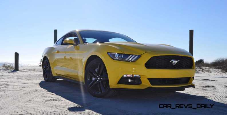 HD Road Test Review - 2015 Ford Mustang EcoBoost in Triple Yellow with Performance Pack 64