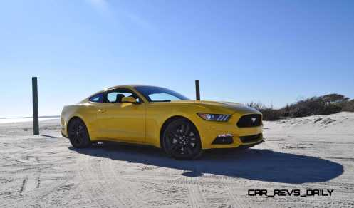 HD Road Test Review - 2015 Ford Mustang EcoBoost in Triple Yellow with Performance Pack 76