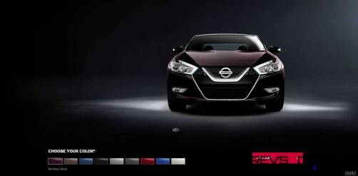 2016 Nissan Maxima Colors and Trims 2