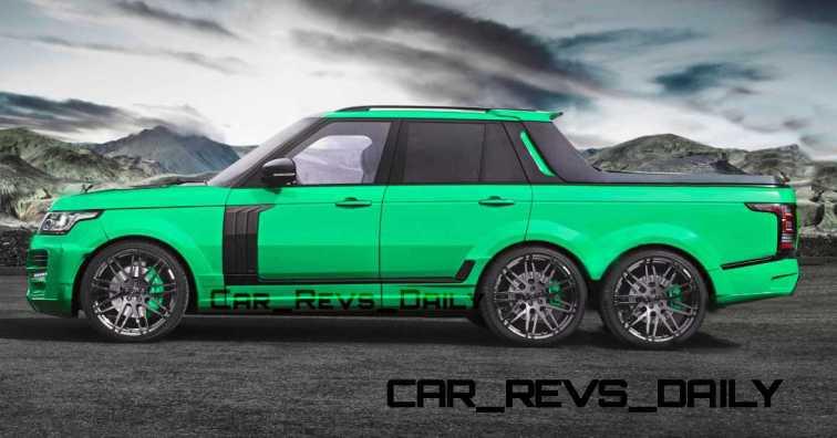 Digital Renderings - StarTech Range Rover 6x6 Long-Box Pickup Truck - 2 Angles + 30 Colors 10 copy