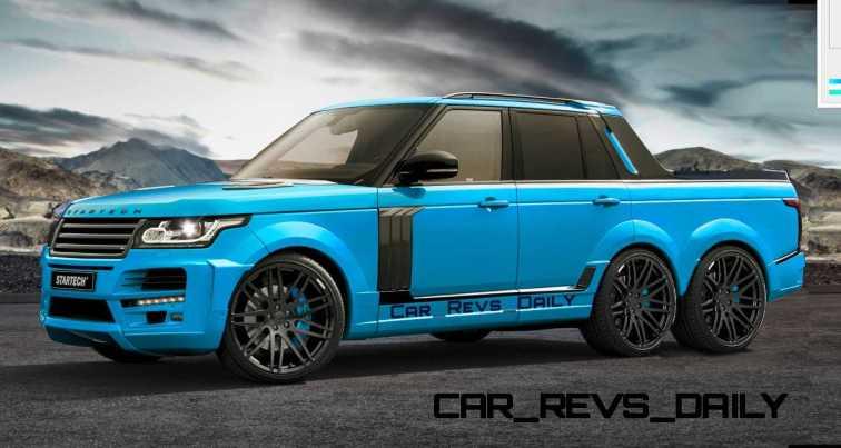 Digital Renderings - StarTech Range Rover 6x6 Long-Box Pickup Truck - 2 Angles + 30 Colors 18