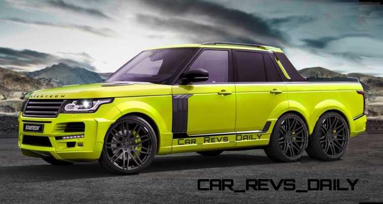 Digital Renderings - StarTech Range Rover 6x6 Long-Box Pickup Truck - 2 Angles + 30 Colors 23