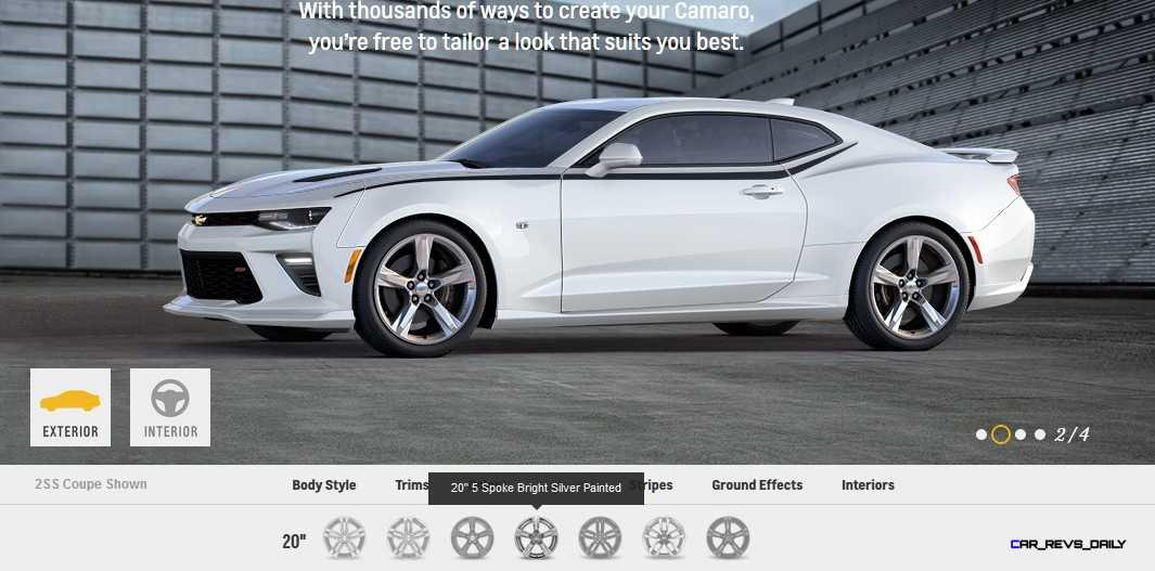 2016 Camaro SS Wheel Options 4