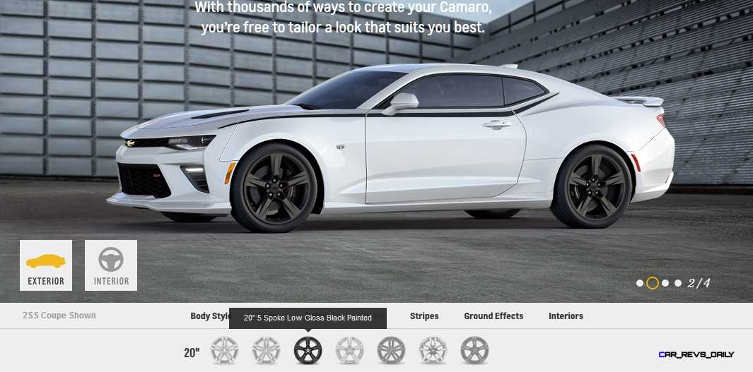 2016 Camaro SS Wheel Options 5