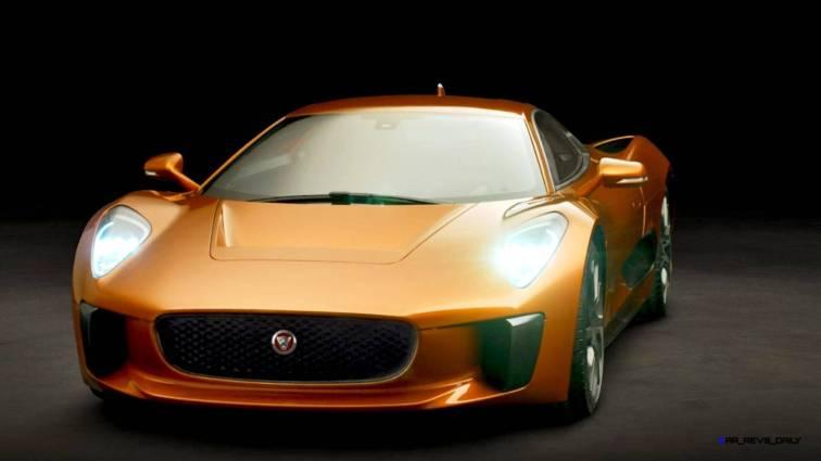 007 SPECTRE Bond Cars - JAGUAR CX-75 Orange 12