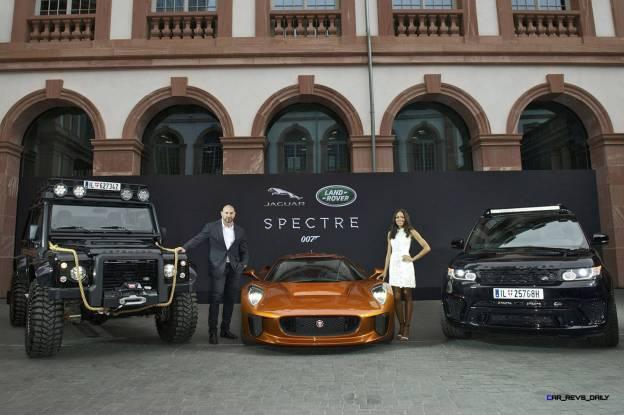 007 SPECTRE Bond Cars - Jaguar CX-75 Land Rover RRS SVR 22