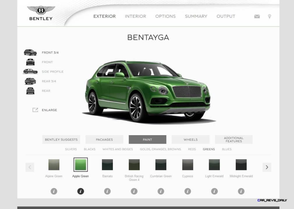 Bentayga Color Samples 9