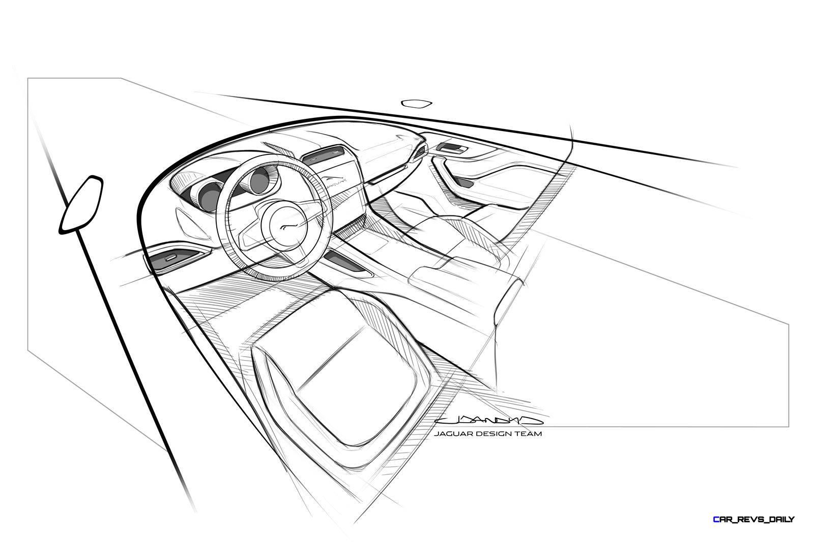 Jag Fpace Interior Sketch 09