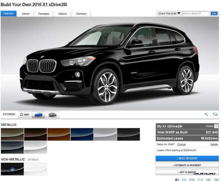2016 BMW X1 Colors 2