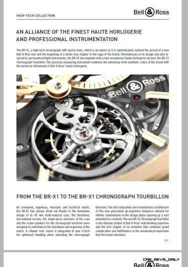 Bell & Ross BR-X1 Presspack Pages 2