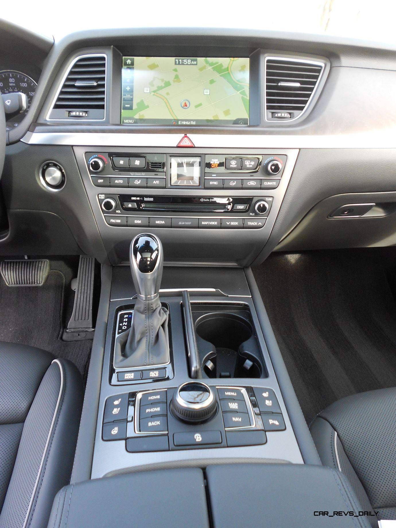 hight resolution of 2016 hyundai genesis awd 3 8 review interior 6