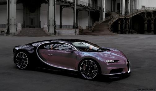 2017 Bugatti CHIRON - Color Visualizer - Draft Renderings 110