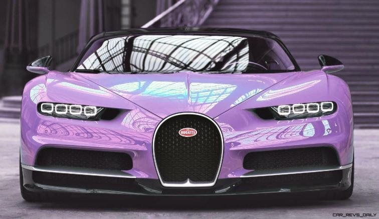 2017 Bugatti CHIRON - Color Visualizer - Draft Renderings 16