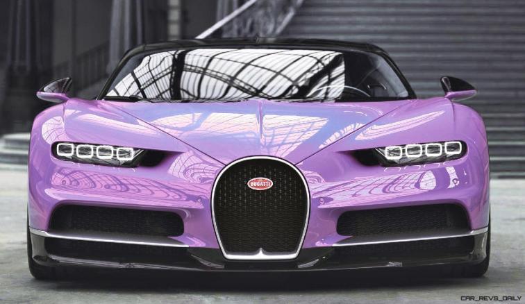 2017 Bugatti CHIRON - Color Visualizer - Draft Renderings 18