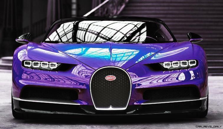 2017 Bugatti CHIRON - Color Visualizer - Draft Renderings 23