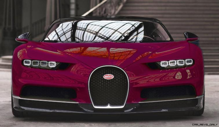 2017 Bugatti CHIRON - Color Visualizer - Draft Renderings 35