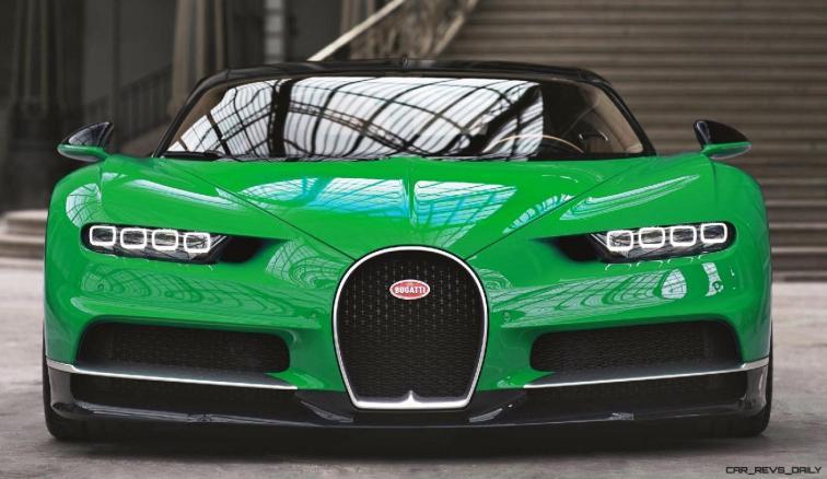 2017 Bugatti CHIRON - Color Visualizer - Draft Renderings 6
