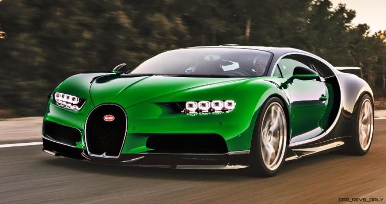 2017 Bugatti CHIRON - Color Visualizer - Draft Renderings 62