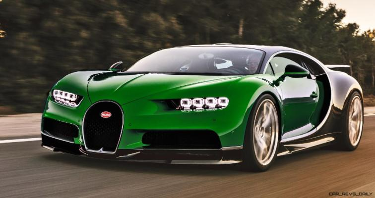 2017 Bugatti CHIRON - Color Visualizer - Draft Renderings 63