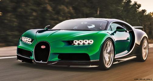 2017 Bugatti CHIRON - Color Visualizer - Draft Renderings 66