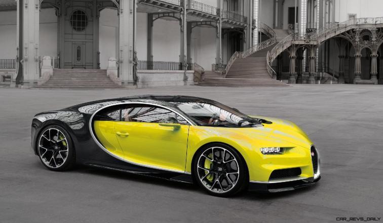 2017 Bugatti CHIRON - Color Visualizer - Draft Renderings 80