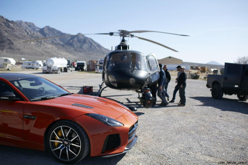 Michelle Rodriguez Roars Past 200MPH in F-Type 13