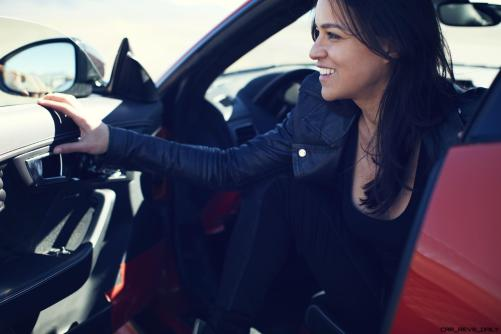 Michelle Rodriguez Roars Past 200MPH in F-Type 7
