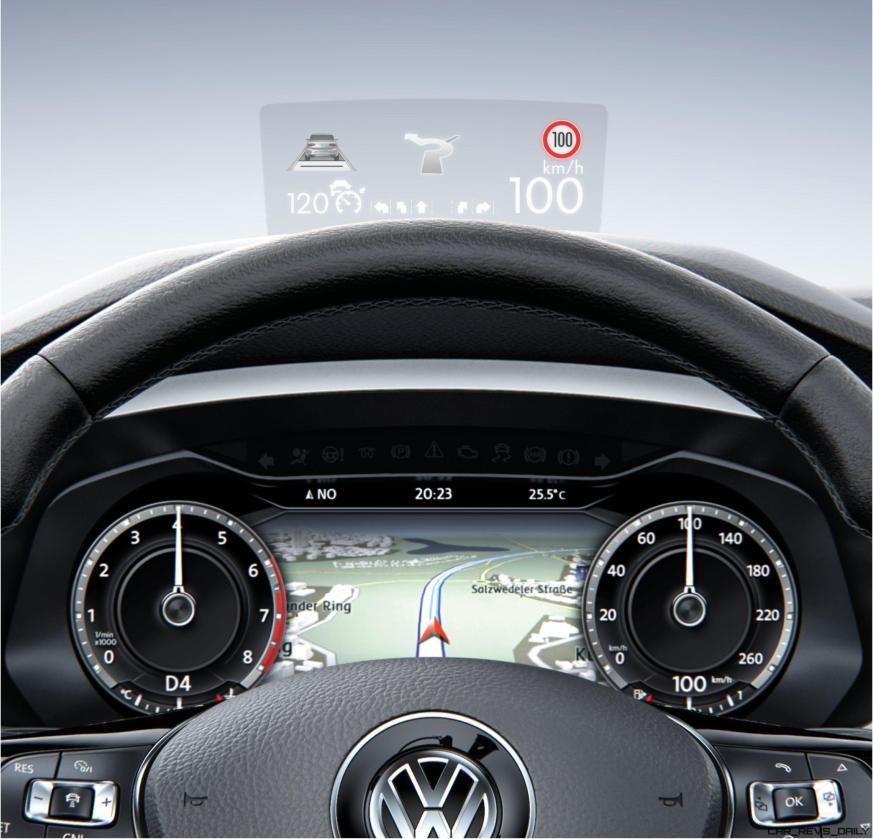 Volkswagen Tiguan head-up display