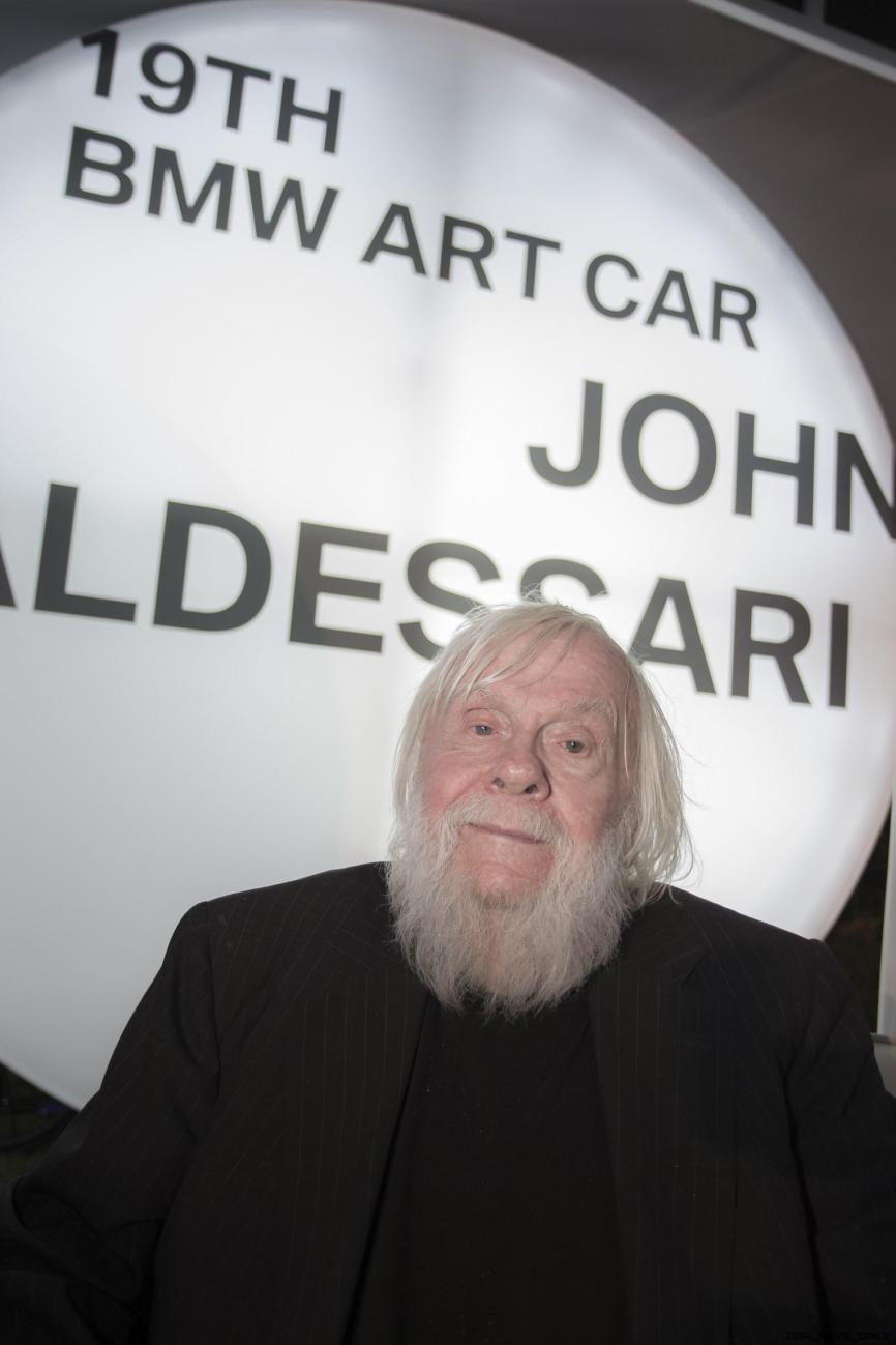 The world premiere of the 19th BMW Art Car, created by renowned American artist John Baldessari, at Art Basel in Miami Beach on Wednesday, November 30, 2016.
