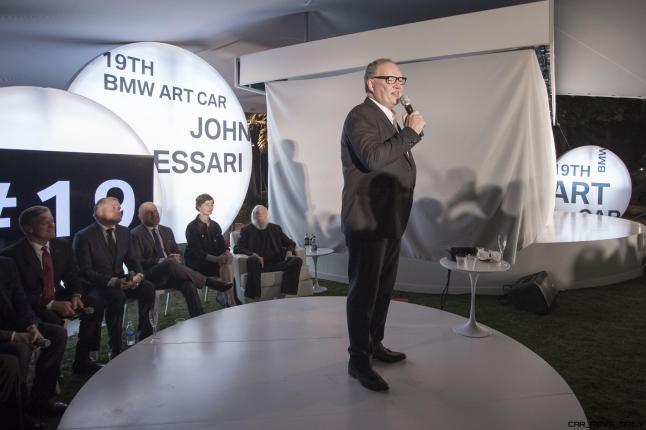 Hans-Kirstian Hoejsgaard, CEO, Davidoff, celebrated the world premiere of the 19th BMW Art Car, created by renowned American artist John Baldessari, at Art Basel in Miami Beach on Wednesday, November 30, 2016.
