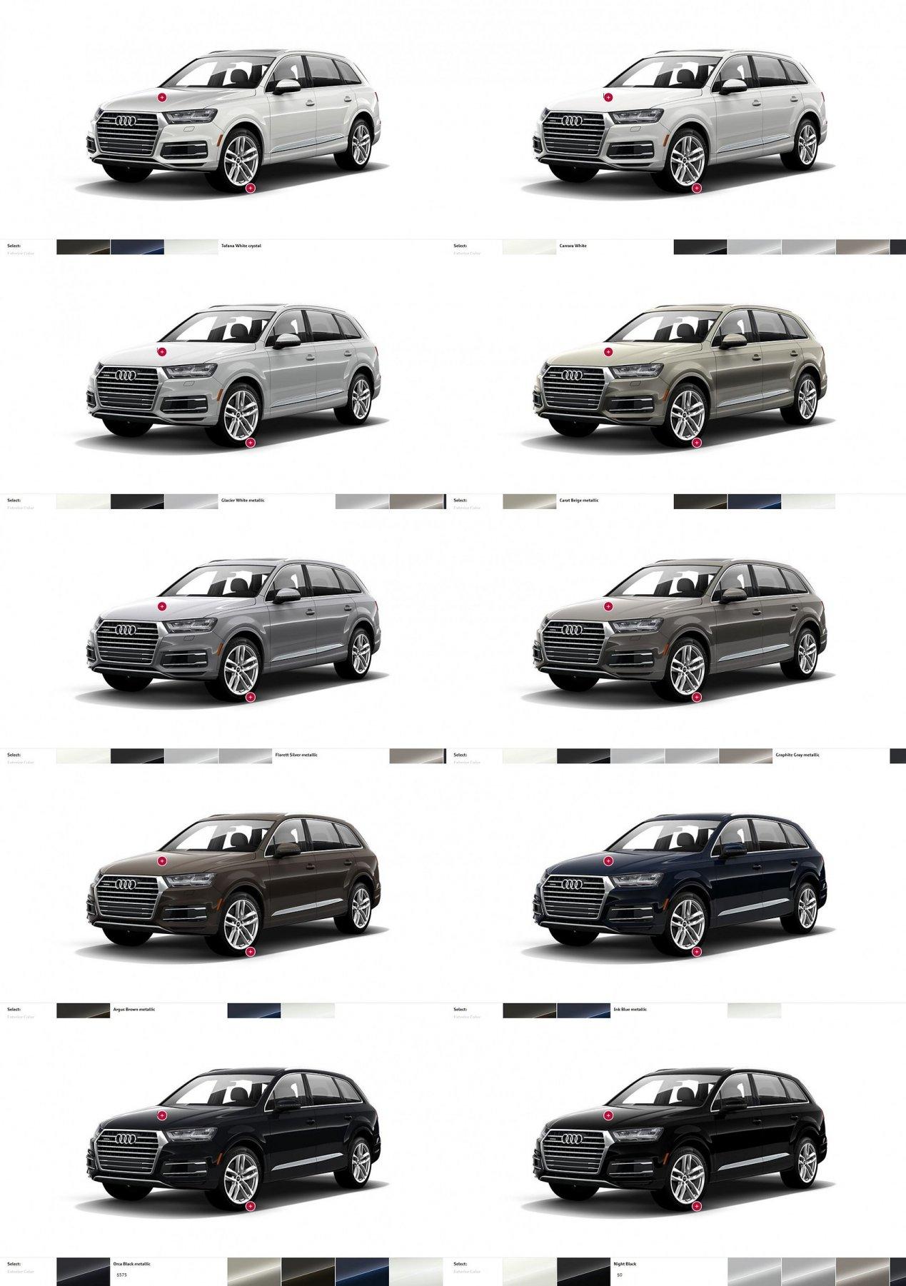 Audi Q7 Colors Wheels And Interiors 12 Tile