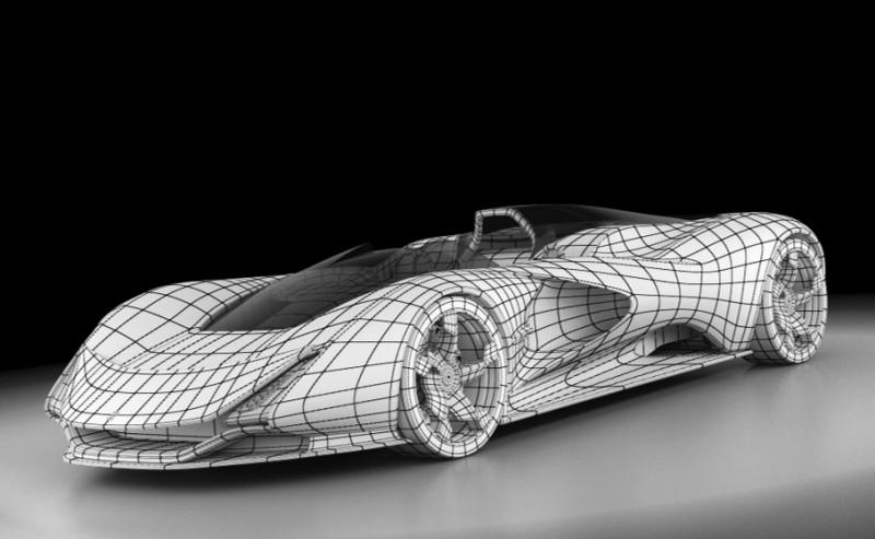 2017 Maserati MC12 Possibly Based on LaFerrari Aliante Spyder by Turin Design Students 12