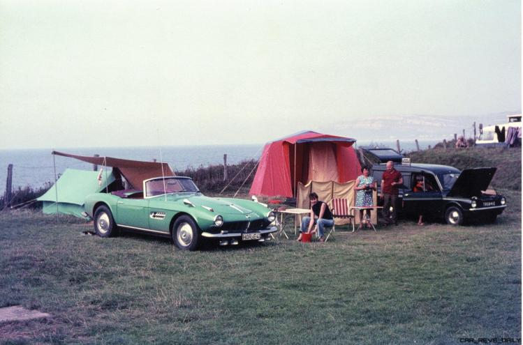 The BMW 507 on a camping trip during Herman Beliharz's ownership.