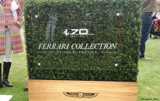 2017 Ferrari 70 Anni Collection at Pebble Beach Concours 112