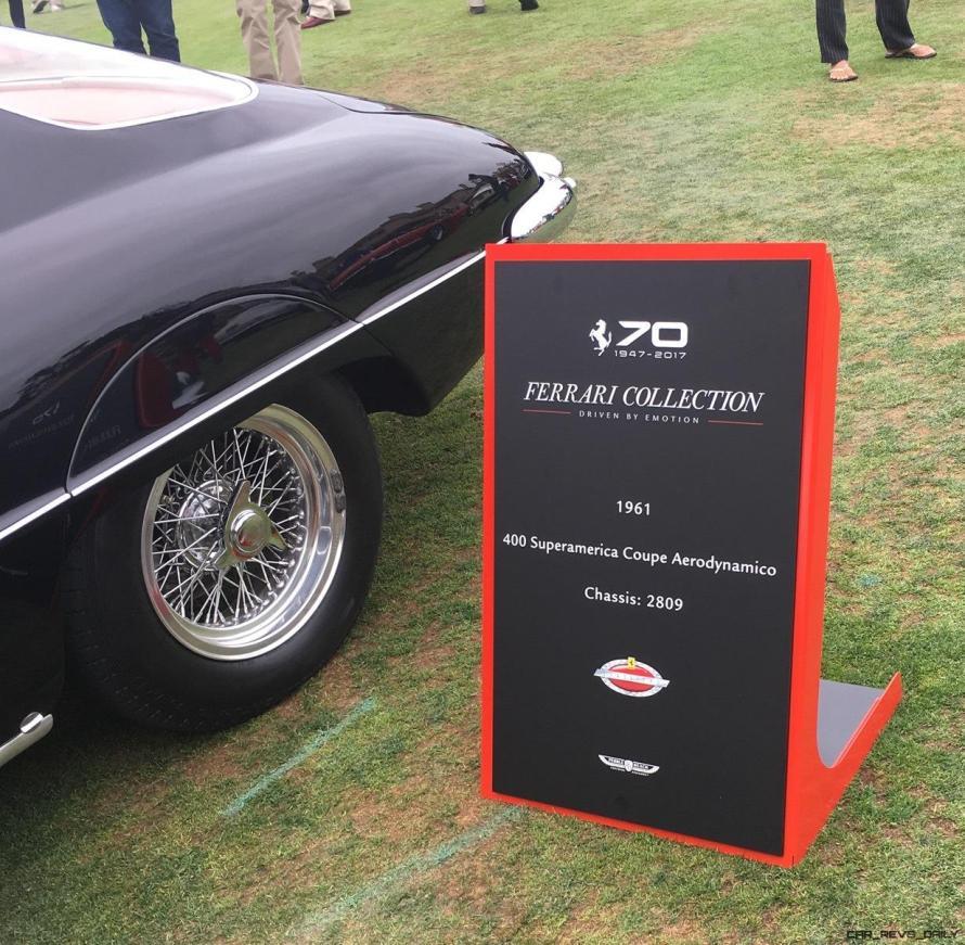 2017 Ferrari 70 Anni Collection at Pebble Beach Concours 124