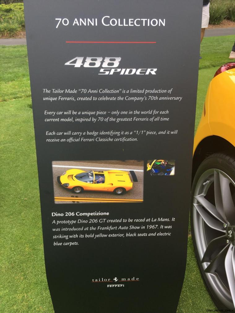 2017 Ferrari 70 Anni Collection at Pebble Beach Concours 28