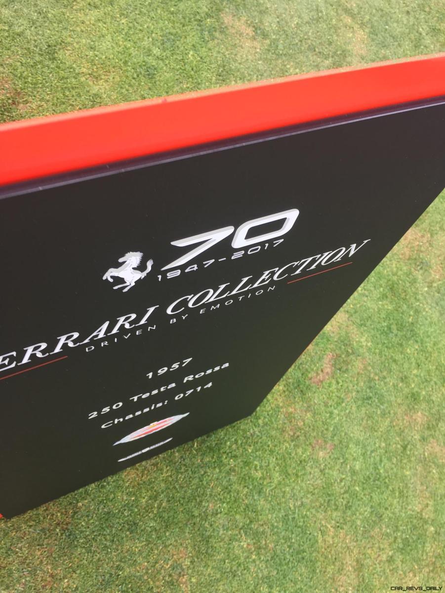 2017 Ferrari 70 Anni Collection at Pebble Beach Concours 96