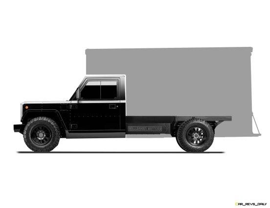 Bollinger Motors B2 Chassis Cab Box Truck side